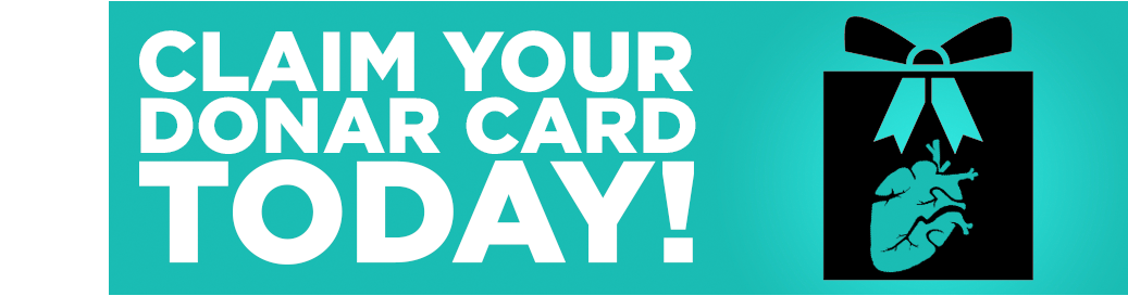 Claim your Donor Card